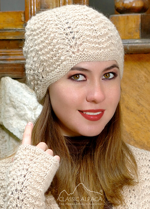 Preview Scallop Lace Alpaca Hat